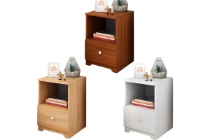 Simple Modern Wood Single Bedside Table (P35)