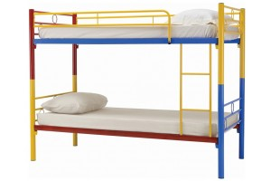 NH Home Colourful Lonway Double Decker Metal Bed (6577055)