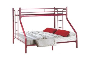 NH Home Weston Bunk Bed Maroon (6577053)