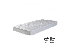 UB Furniture 12CM Thick Single Size Comfortable Environmental Friendly Rebonded Foam Mattress (RQ35)