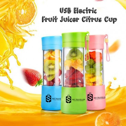SKY TRAVELLER SKY337 USB Mini Fruit Juicer Protein Shake Ice Smoothie Maker Portable Rechargeable Blender 380ml Juice Cup With Filter