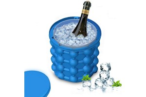 Ice Bucket 2in1 Ice Cube Silicone Molds Ice Bucket Revolutionary Space Saving Ice Cube Maker- Ice Genie Kitchen Tools