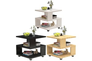 Modern Minimalist Bedside Table Mini Sofa Side Cabinet Wood Living Room Small Cabinet Storage (BT008)