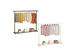 Indoor Drying Rack Floor Single Pole Drying Rack Bedroom Hanger Balcony Clothes Pole Simple Clothes Rack Home