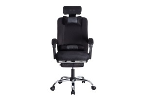 Ergonomic Designed High Backrest Swivel Mesh Office Chair With Footrest