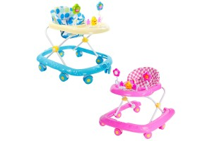 Baby Care Extra Safety 8 Wheels 3 Height Level Traditional Baby Walker With Music Toys Activity Tray (806)