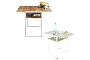 Simple Modern Extendable Notebook Home Computer Desk Desktop Desk Foldable Dual-use Small Apartment Dining Table (B210)