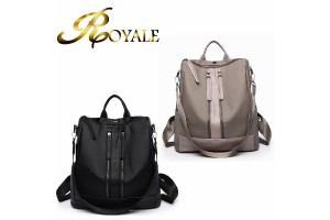 ROYALE Round Shoulder Bag European And American Spring Newdouble Zipper Simple Fashion Backpack Handbag 269 (RYL-224)