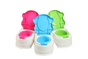 Cute Cartoon Baby Training Toilet Potty Trainer Chair Children Detachable Stool Trough