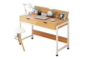 DIY Multifunctional High Quality Modern Wood Flip Study Computer Office Table Desk With Double Drawers (B2203B)