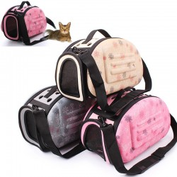 Portable Pet Small Dog Cat Sided Carrier Travel Tote Shoulder Bag Cage Kennel (Small)
