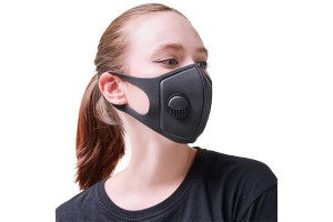 Face Mask Washable And Reusable Mouth Cover Dustproof Respirator Safety Mask With Breath Valve Made For Men Women Outdoor Activities