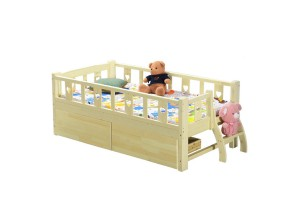 Crib Children's Furniture Pure Solid Wood Bed Custom Children's Single Bed With Guardrail Crib (N170)