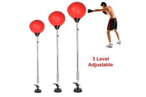 3 Level Adjustable Height Reflecting Fist Hitting Speed Punching Ball Fighting Training Gym