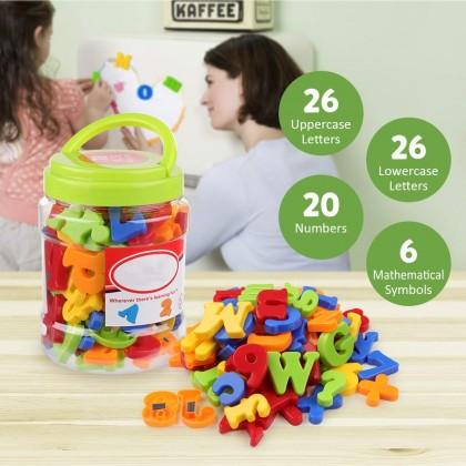 3D Puzzle Plastic Magnetic Alphabets English Letters And Numbers Early Childhood Teaching Aids