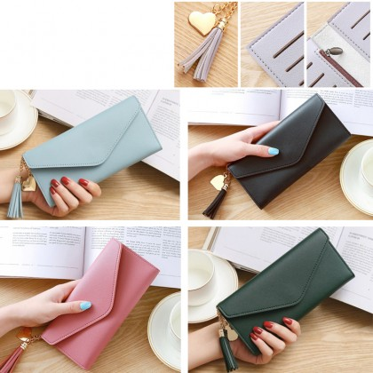 Long Hand Holding The Trend Of Heart-Shaped Pendant Simple Fashion Multi-Functional Pattern Women Wallet (RYL-274)