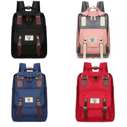 Fashion Korean Women Casual Nylon Cloth Backpack Travel High School Beg Laptop Student Shoulder Bag (RYL-293)