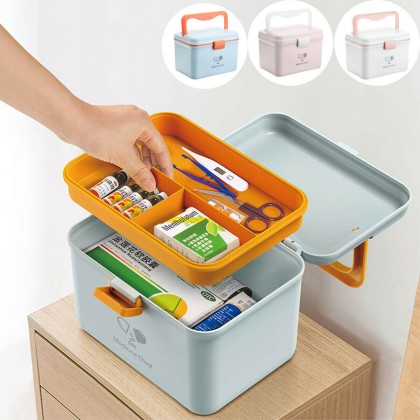 Medical Case First Aid Box Medicine Box Household Plastic Portable Medicine Storage Box