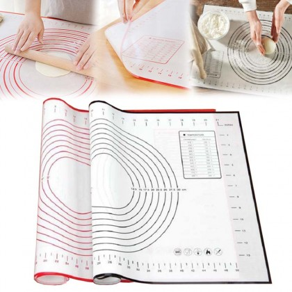 GTE 1pcs Heat Resistant Silicone Mat Kneading Pad Chopping Board Mat And Face Pad Thickening Baking Mat Non-Stick Mat 40cm x 60cm