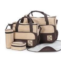 5 in 1 Multifunction Tote Baby Shoulder Diaper Bags