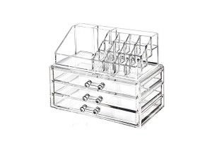 3 Layers Cosmetic Drawers Makeup Jewelry Storage Display Organizer