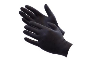 100 Nitrile Disposable Powder-Free Medical Exam (Latex Free) Gloves 5 Mil Black