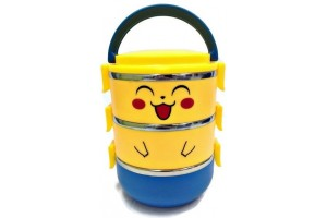 3 Layers Stainless Steel Pikachu Lunch Box
