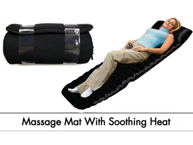 Full Body Massager Luxurious Silky Quilted Mat 9 Motors