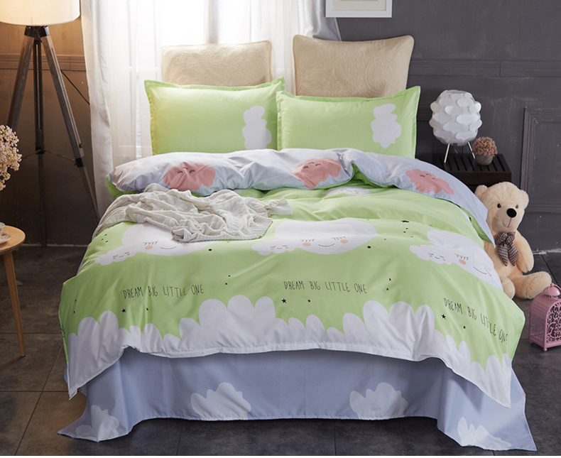 3-In-1 Premium Artistic Design Bed Sheet King Size (1.8) - 12 Option Available