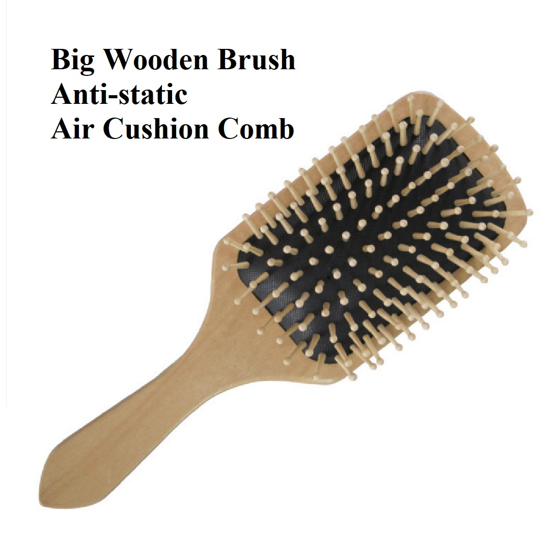Big Wooden Brush Anti-static Air Cushion Health Hair Care Spa Massage Comb Lotus Comb
