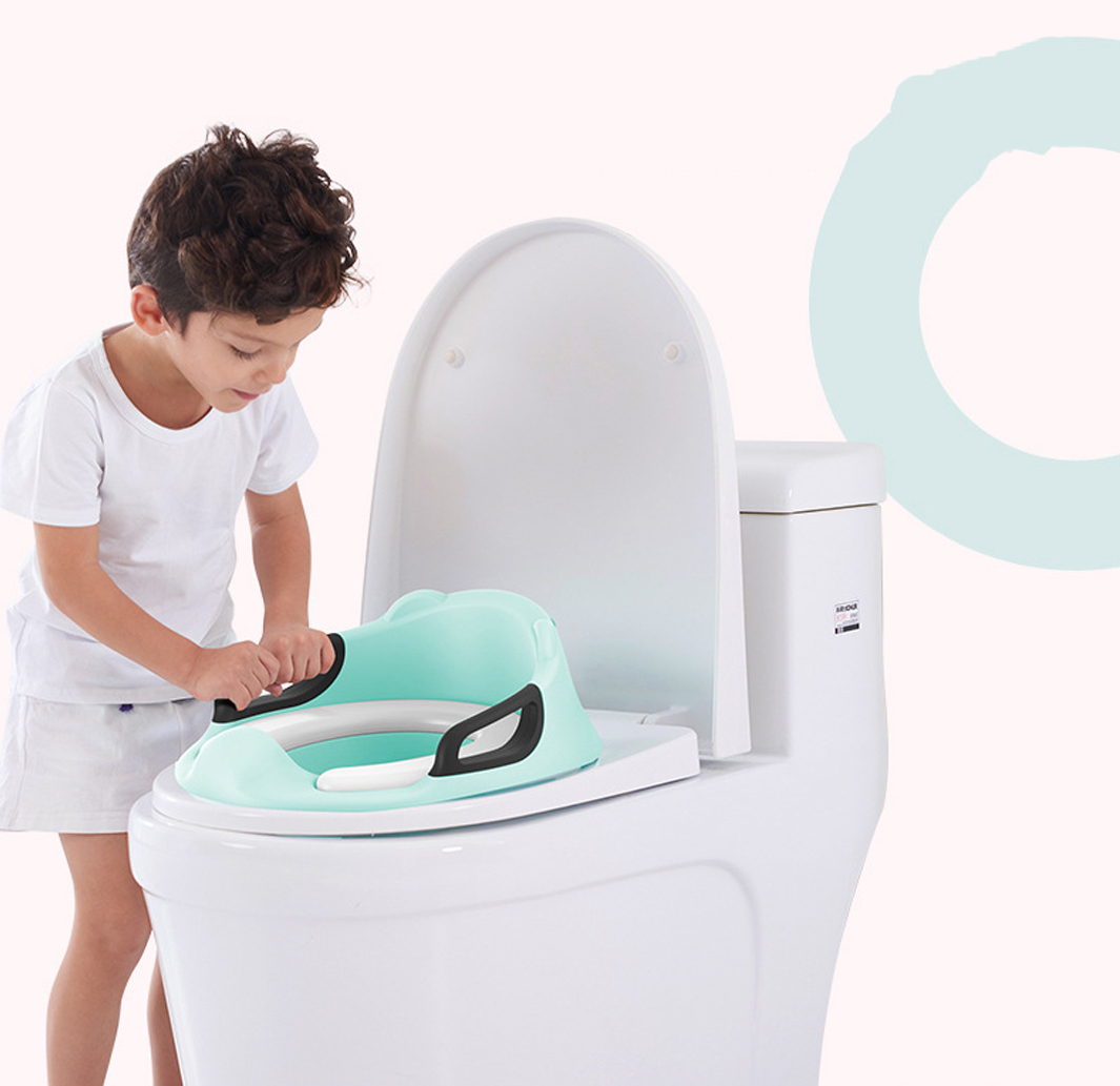 Kids Toilet Seat Cover Plastic Portable With Handle Baby