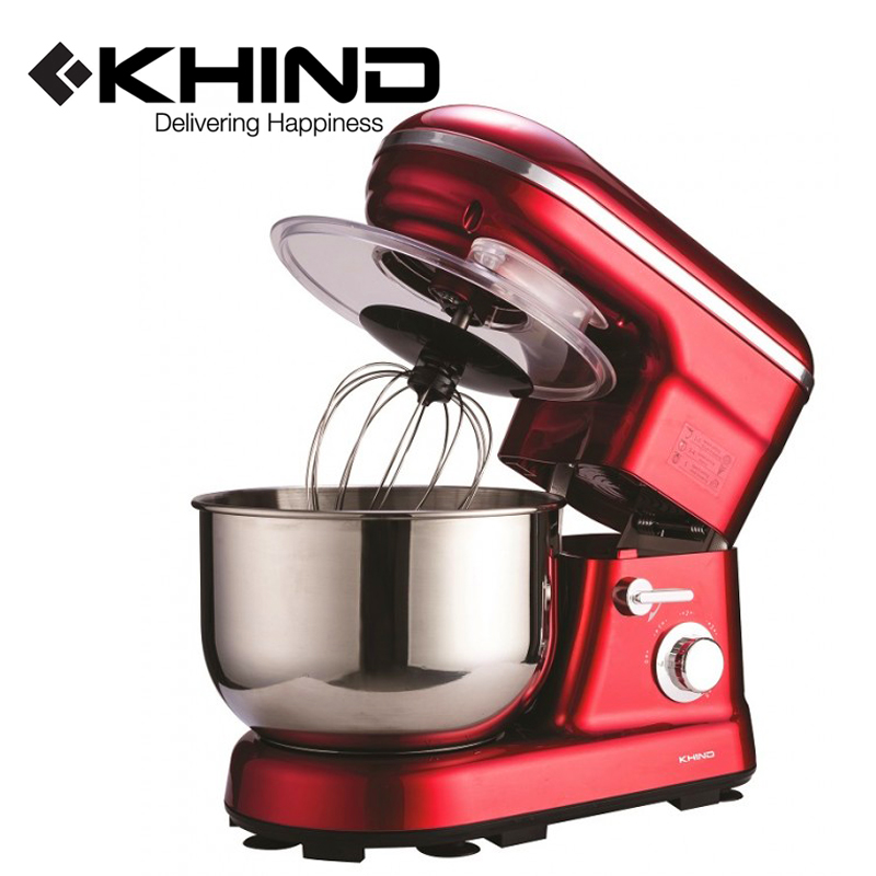 KHIND Stand Mixer (1200W) 5.0L SUS304 Stainless Steel Mixing Bowl (SM500P)