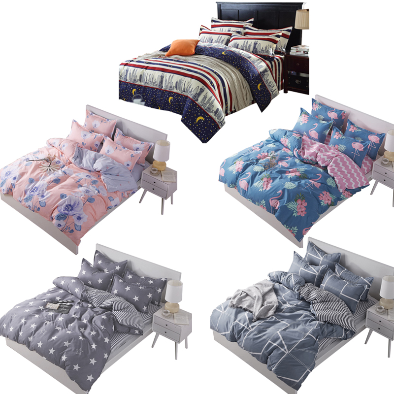 3-In-1 Fitted Bed Sheets Creative Design Queen Size (1.5) - 5 Colors Available