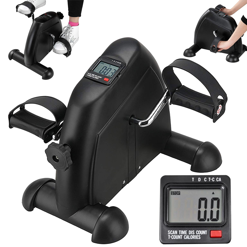 Small Exercise Bike Medical Exercise Peddler Bicycle For Leg Arm Cycling Exerciser With LCD Monitor